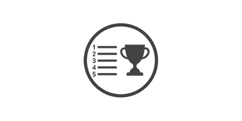 Trophy and ranking badge illustration to signify benchmarking