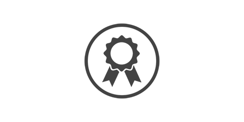 Rosette badge illustration to signify quality assurance