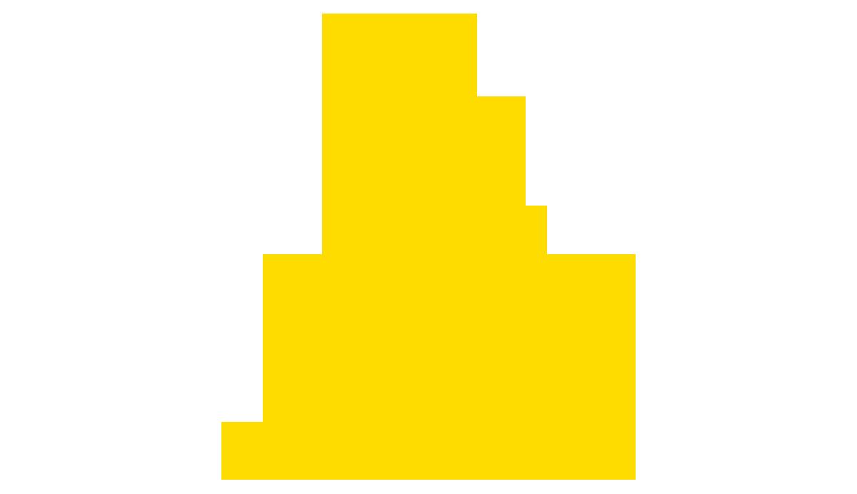 Awarded arrow logo in yellow